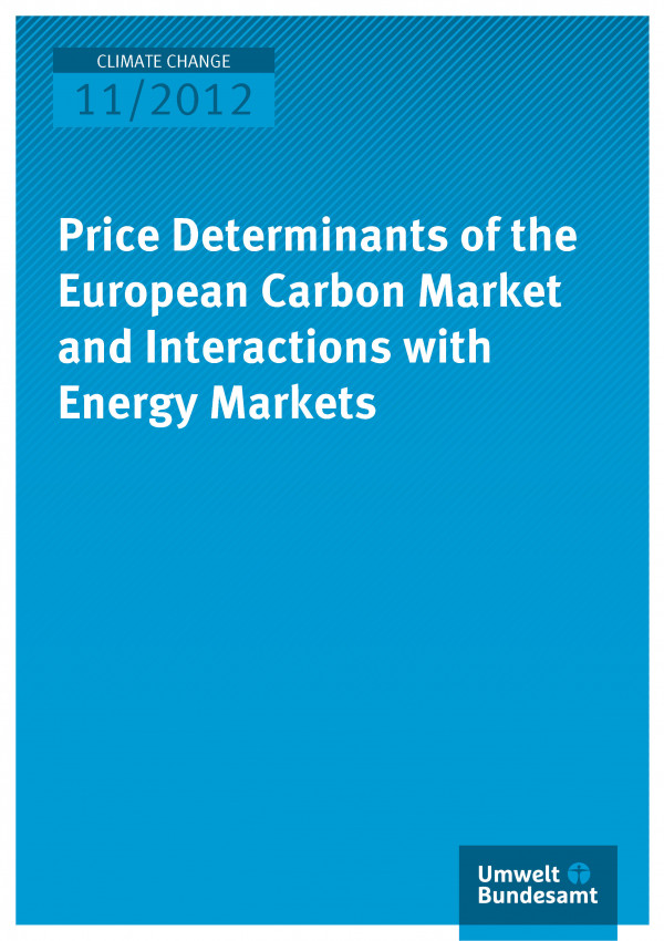 Publikation:Price Determinants of the European Carbon Market and Interactions with Energy Markets