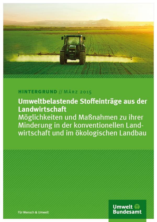 Cover Umweltbelastende Stoffeinträge aus der Landwirtschaft