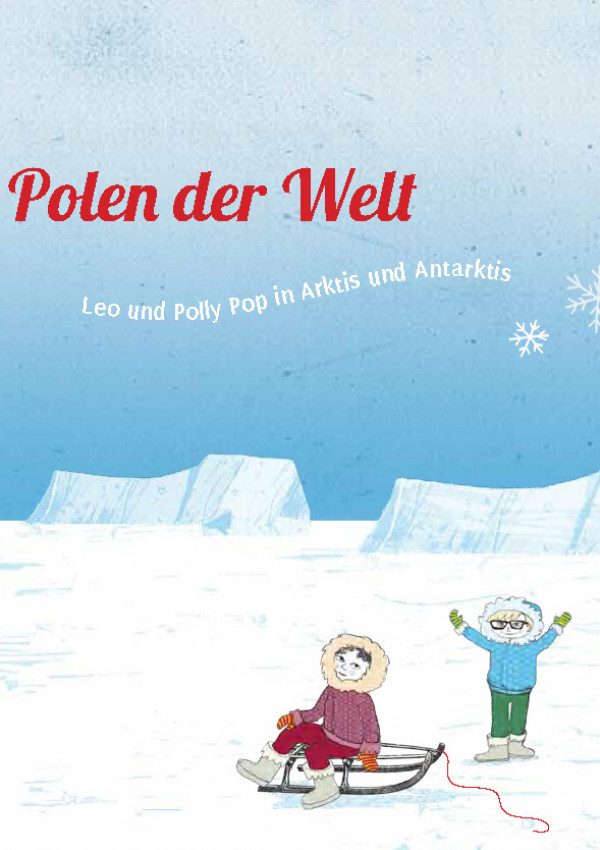 gezeichnetes Titelbild, zwei Kinder in einer Eislandschaft