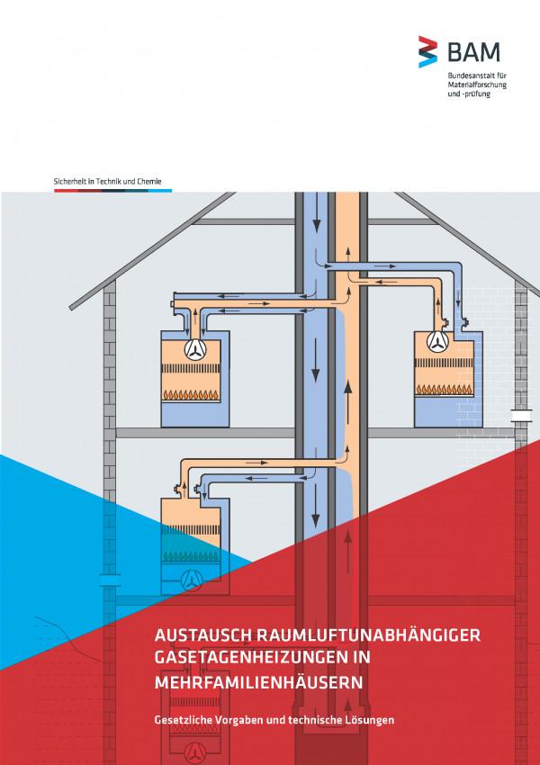 Titelseite mit grafischer Abbildung einer Gasetagenheizung