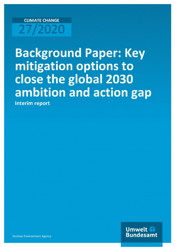 Cover_CC_27-2020_Key mitigation optil 2030 ambition and action gap