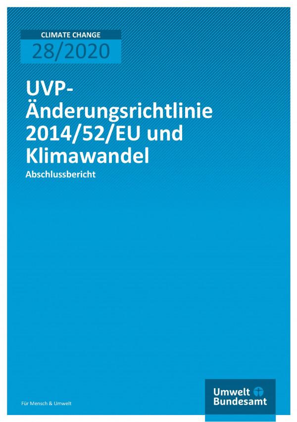 Cover_CC_28-2020_UVP-Änderungsrichtlinie und Klimawandel