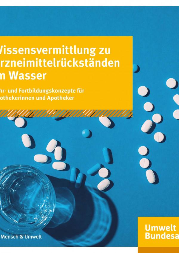 Cover_Handbuch_Wissensvermittlung zu Arzneimittelrückständen im Wasser