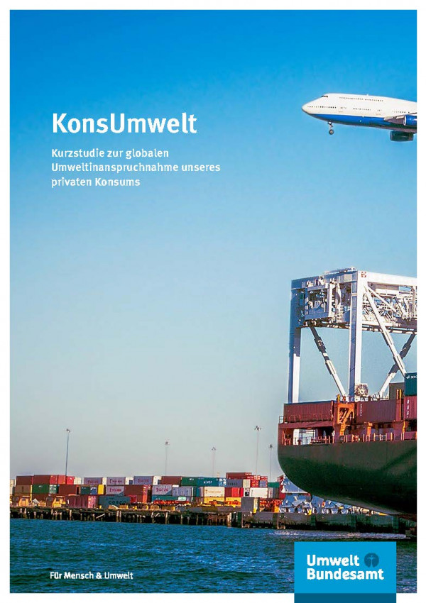 Blick auf Containerhafen