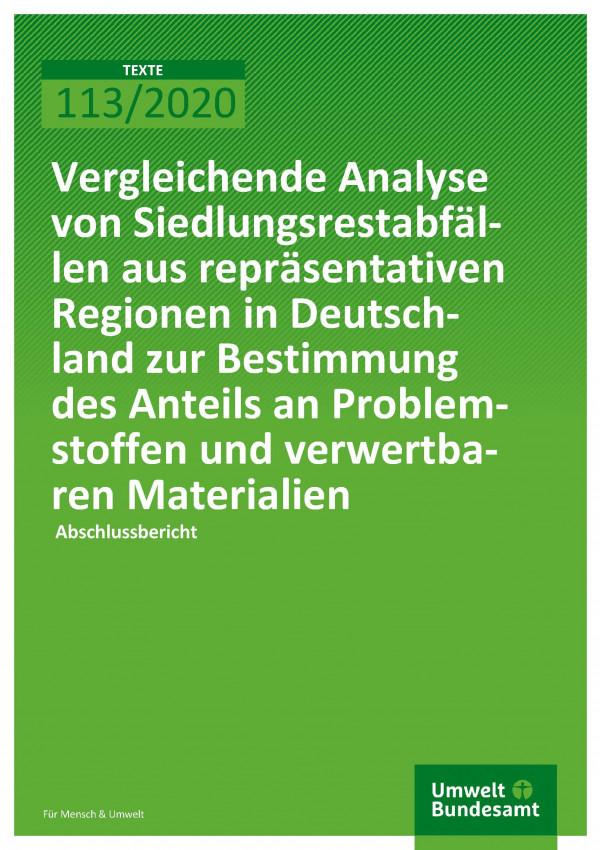 Cover_TEXTE_113-2020_Analyse von Siedlungsrestabfällen_Abschlussbericht