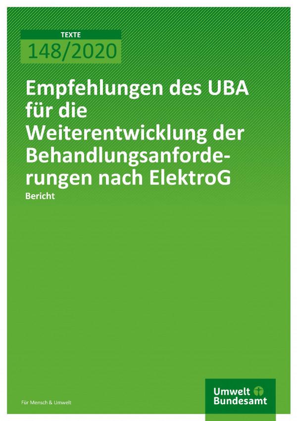 Cover_TEXTE_148-2020_Bericht Empfehlen zu Behandlungsanforderungen