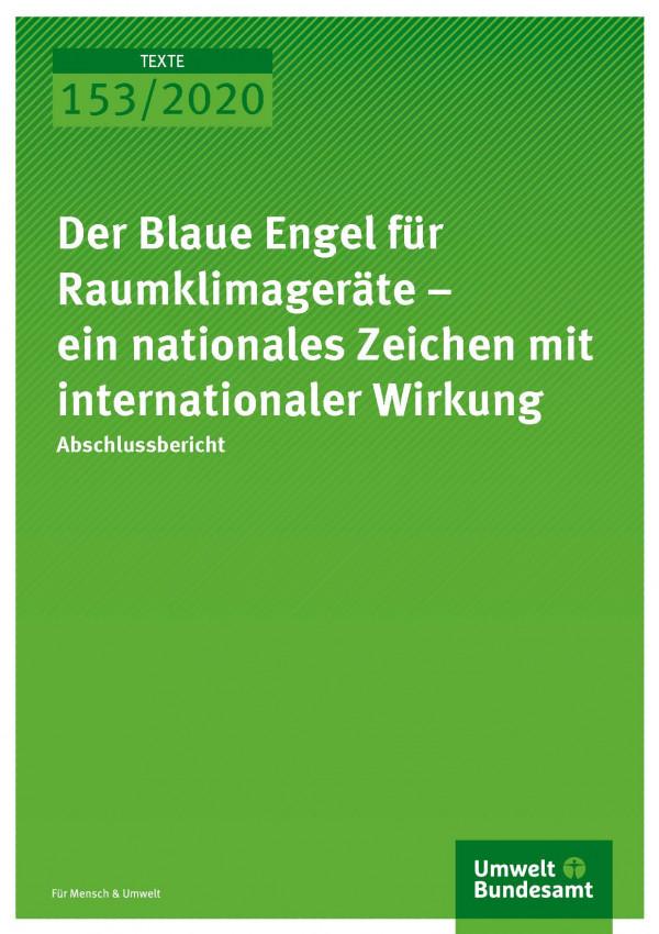Cover_TEXTE_153-2020_Der Blaue Engel für Raumklimageräte