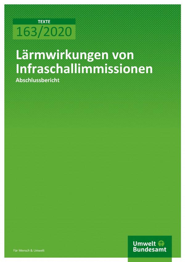 Cover_TEXTE_163-2020_Lärmwirkungen von Infraschallimmissionen