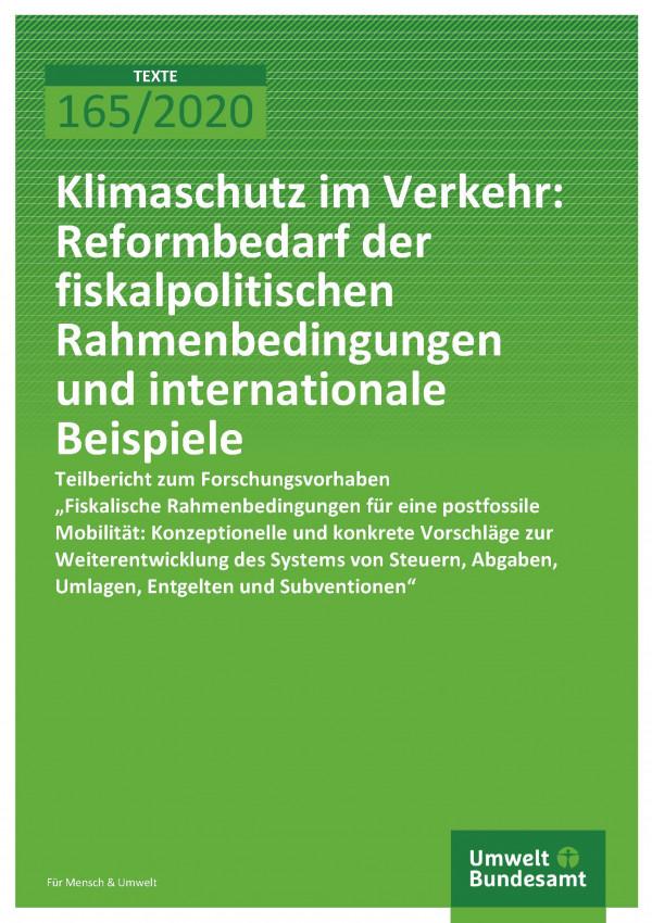 Cover_TEXTE_165-2020_Reformbedarf den und internationale Beispiele