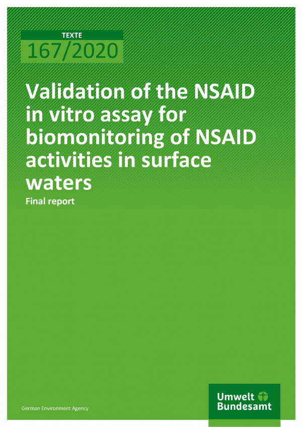 Cover_TEXTE_167-2020_Validation of the NSAID in vitro assay for biomonitoring of NSAID activities in surface waters