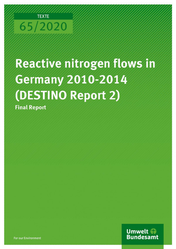 Cover TEXTE 2020 65 Reactive nitrogen flows in Germany 2010-2014