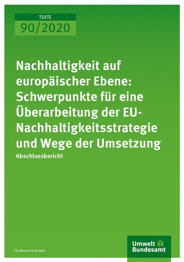 Cover_TEXTE_90-2020_Nachhaltigkeit auf europäischer Ebene
