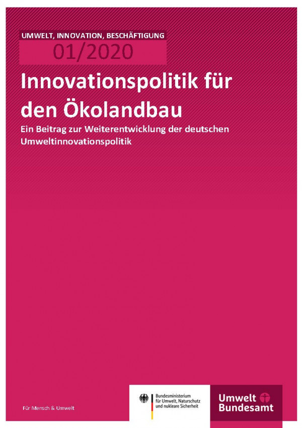 Cover_Innovationspolitik für den Ökolandbau