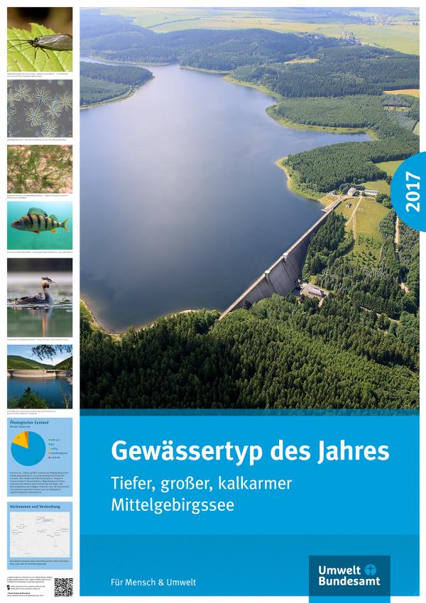 Luftbild eines Mittelgebirgssees