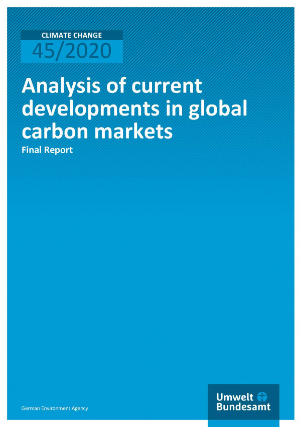 Cover of publication Climate Change 45/2020 Analysis of current developments in global carbon markets