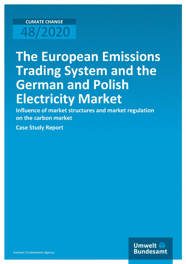 Cover of publication Climate Change 48/2020 The European Emissions Trading System and the German and Polish Electricity Market