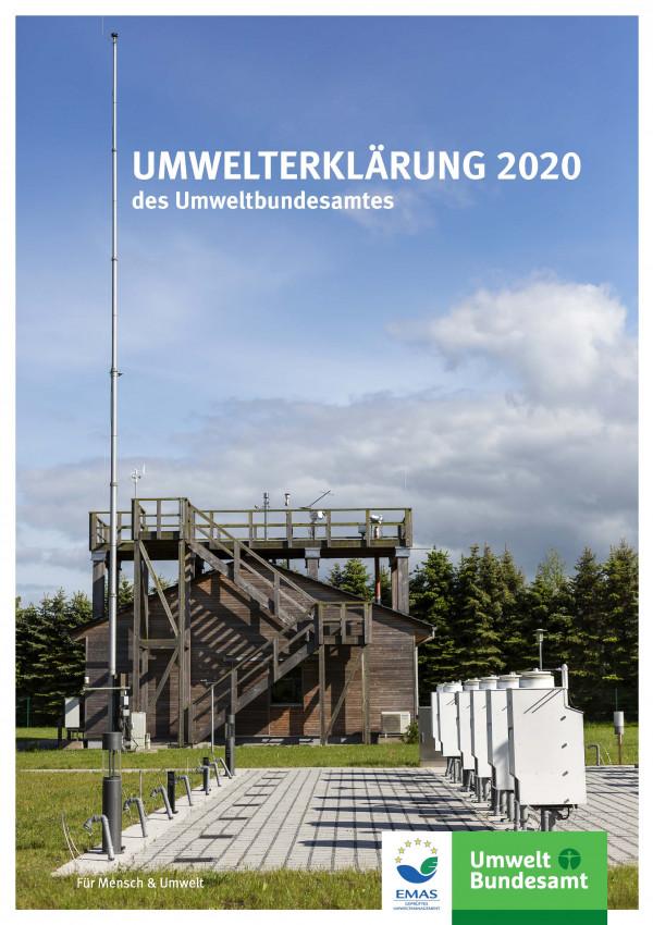 Cover des Berichtes Umwelterklärung 2020 des Umweltbundesamtes