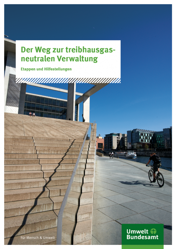 Titelbild der Fachbroschüre Der Weg zur treibhausgasneutralen: Etappen und Hilfestellungen