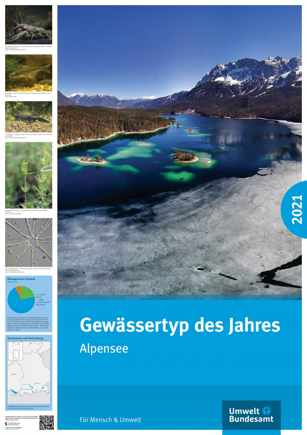 """Poster des  """"Gewässertyp des Jahres 2021: Alpensee"""""""