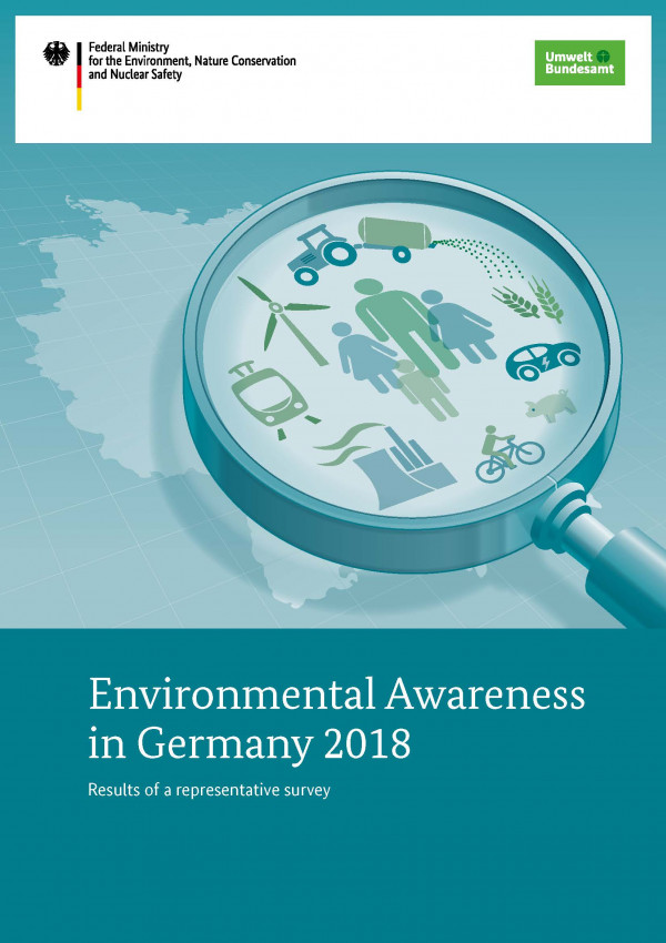 Cover of study Environmental Awareness in Germany 2018