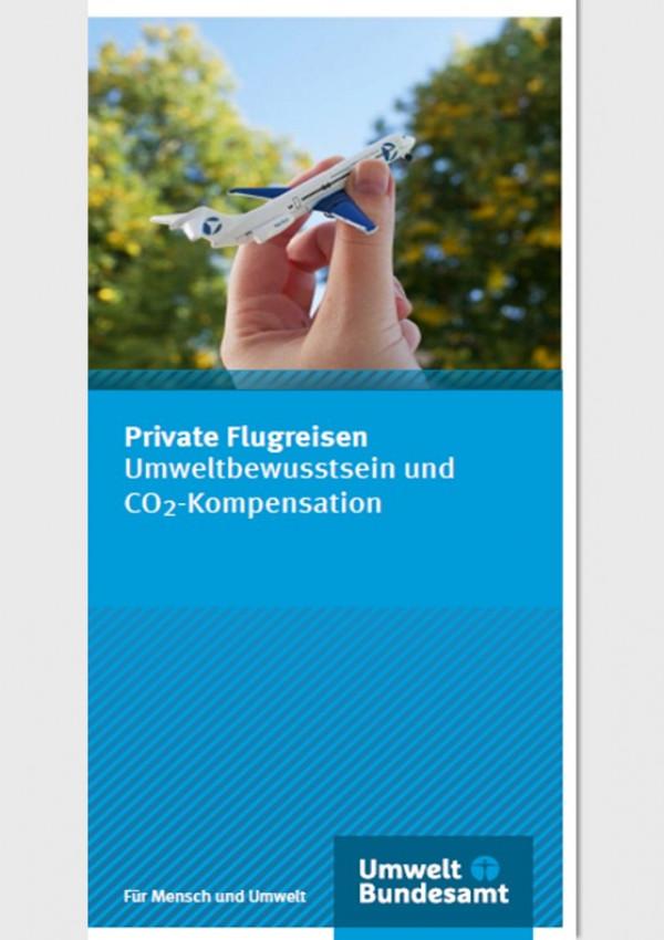 Cover des Flyers Private Flugreisen Umweltbewusstsein und CO2-Kompensation