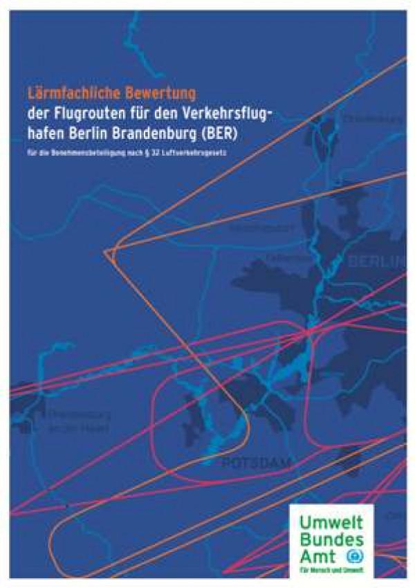 Titelseite, im Hintergrund eine Karte mit Flugrouten