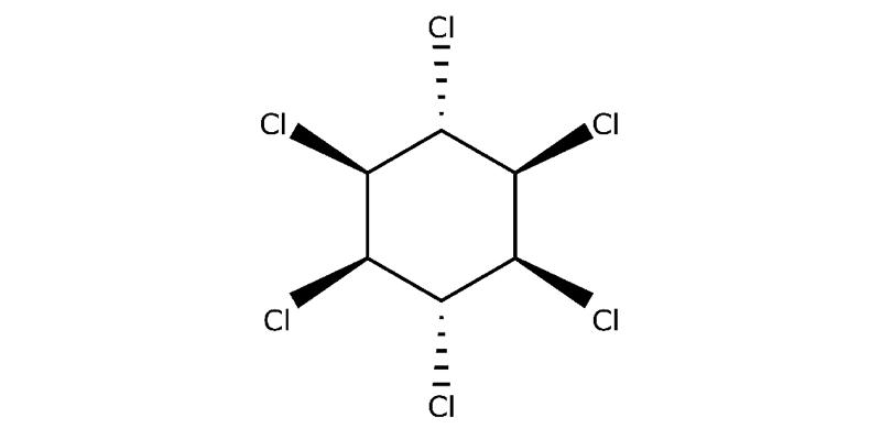 Strukturformel von Lindan