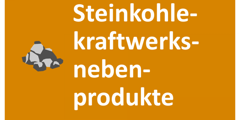 Steinkohlekraftwerksnebenprodukte