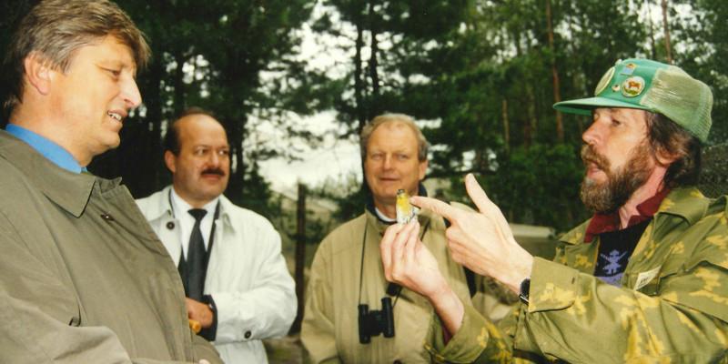 Bild des Besuchs der Feldstation Fringilla
