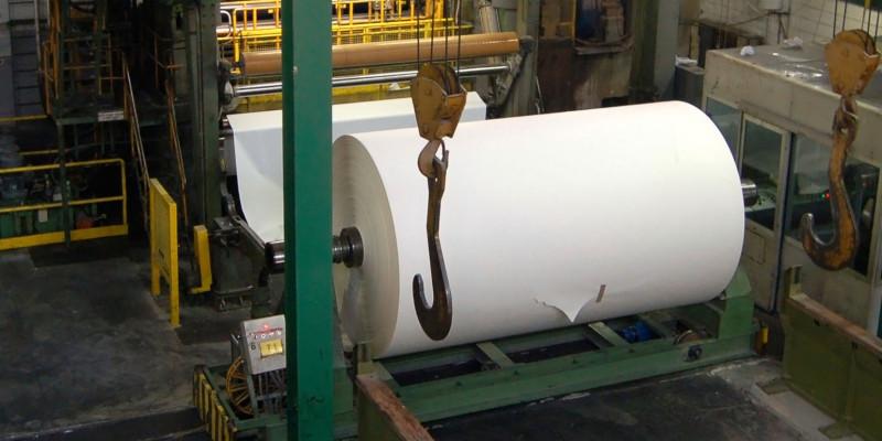 Bild einer Papierfabrik
