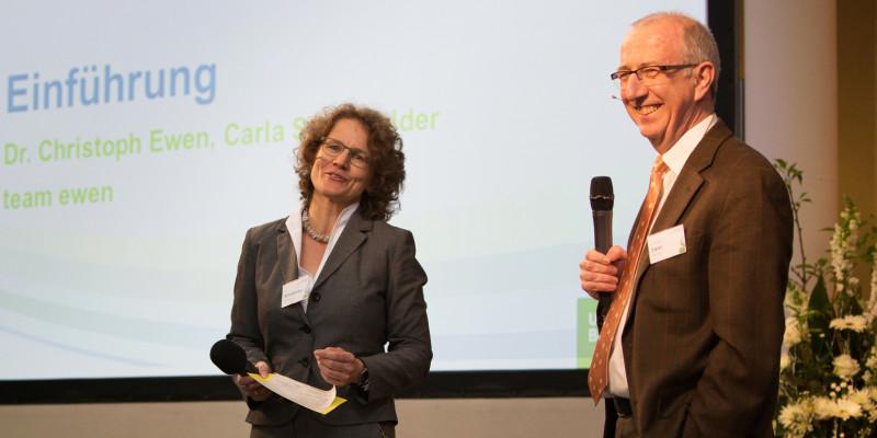 Moderiert wird das UBA Forum von Carla Schönfelder & Dr. Christoph Ewen von team ewen aus Darmstadt