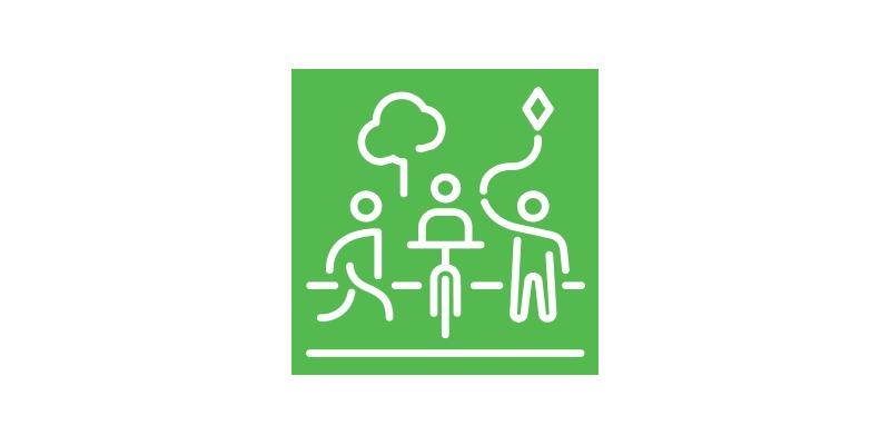 Logo zu der Maßnahme Urbanes Grün und öffentliche Freiräume in der zukunftsfähigen Stadt
