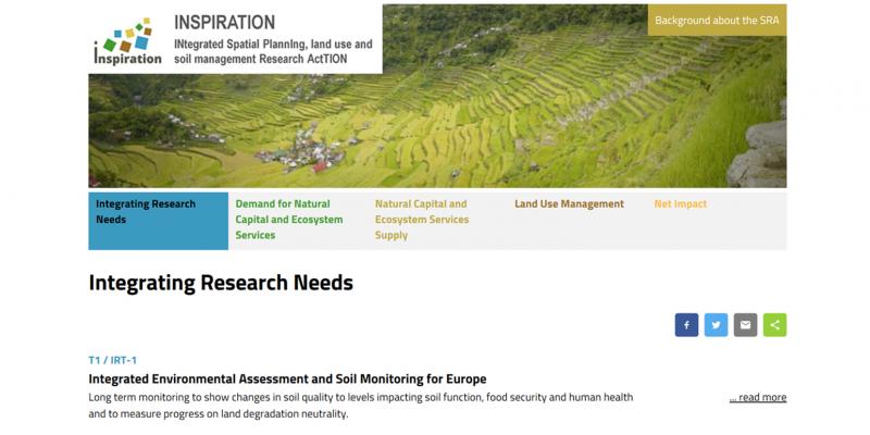 Screenshot der INSPIRATION Website