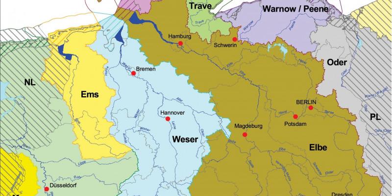 Karte: Flussgebietseinheiten in Deutschland