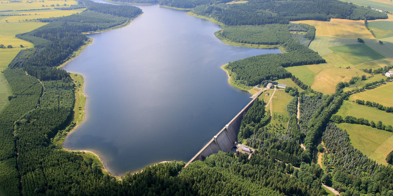 Lehnmühle Reservoir in Saxony