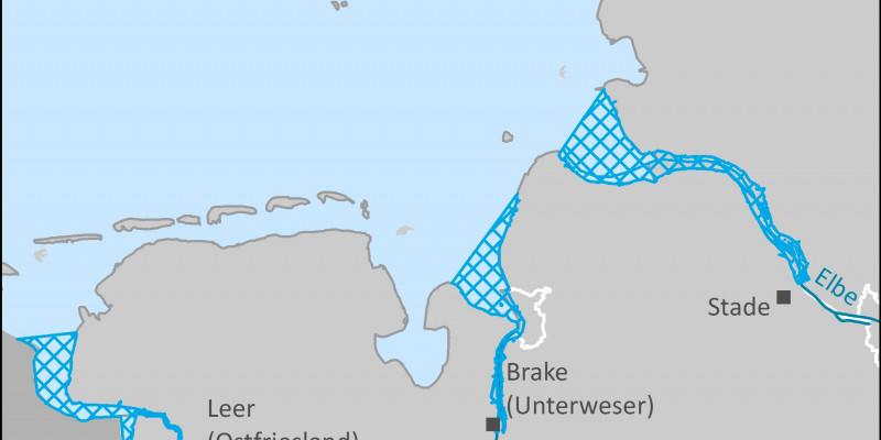 Eine Karte der Nordseeästuare