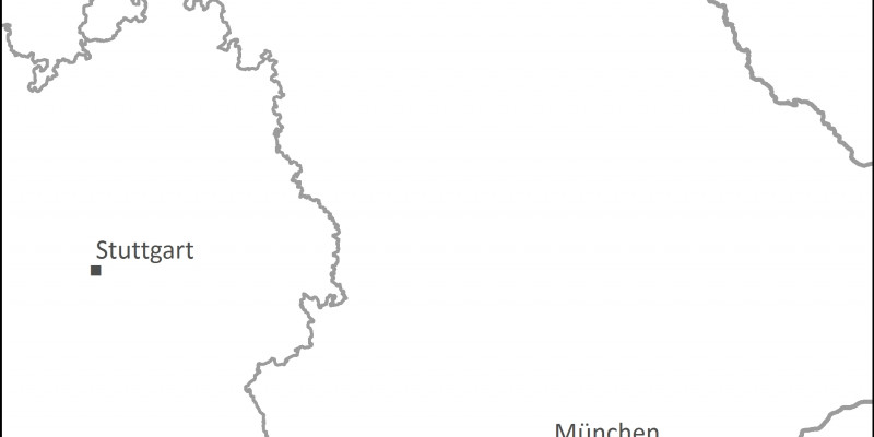 Karte von Alpenseen