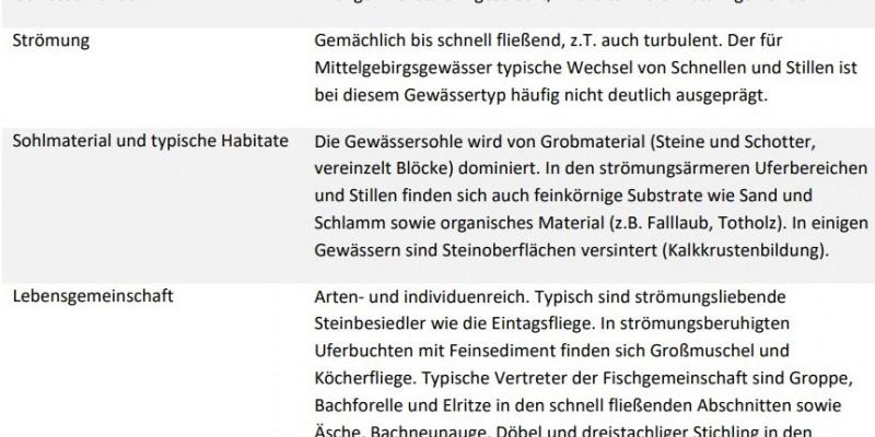 ein Steckbrief über die Eigenschaften des Mittelgebirgsbaches