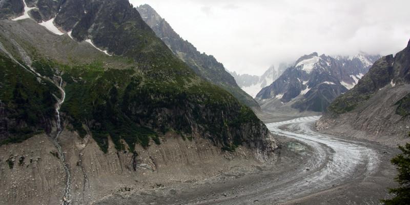 Ein Gletscher in den französischen Alpen.