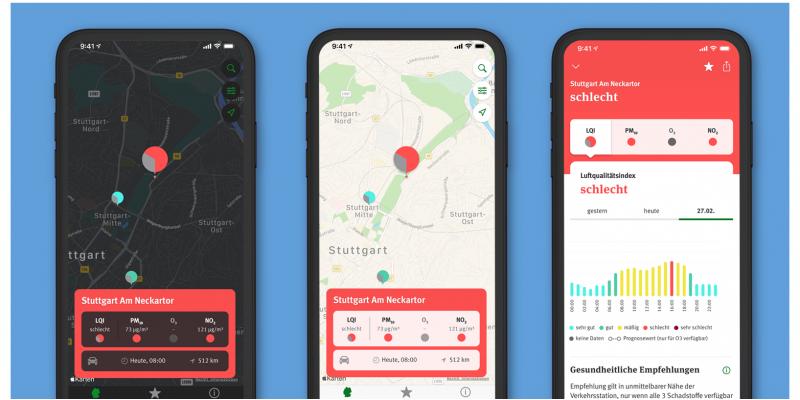 Screenshots Luft-App