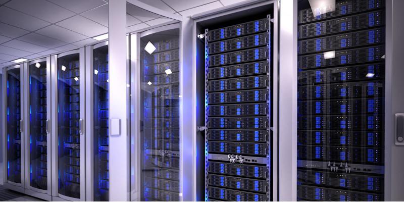 Server im Rechenzentrum.