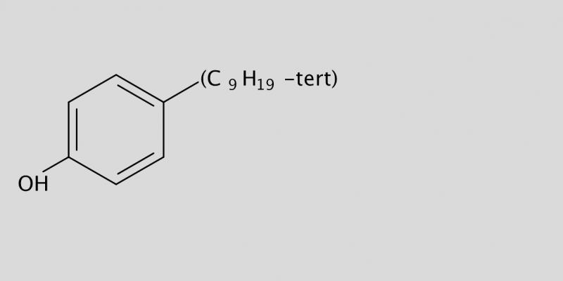 Strukturformel von 4-tert-Nonylphenol