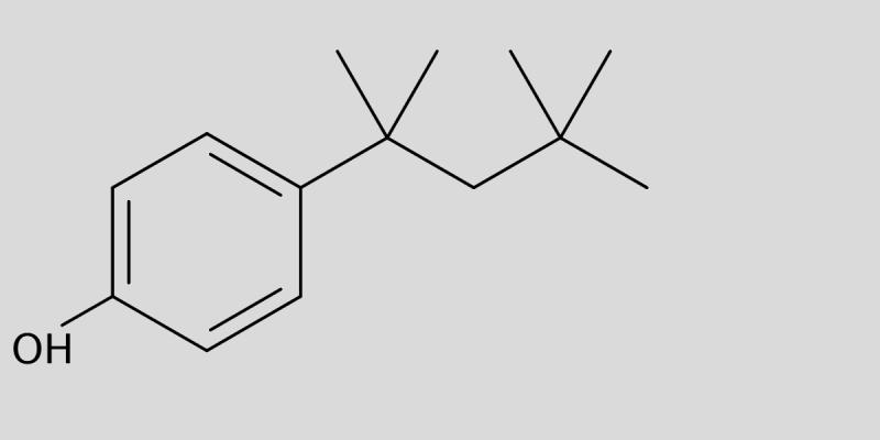 Strukturformel von 4-tert-Octylphenol