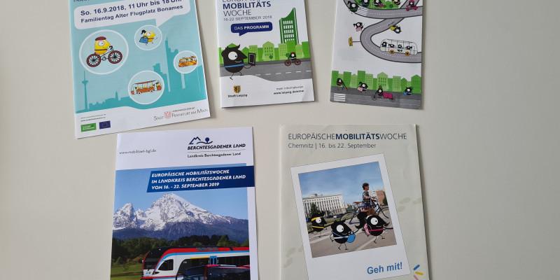 EMW-Programmhefte aus Frankfurt a.M., Chemnitz, Leipzig, Mönchengladbach, Berchtesgadener Land