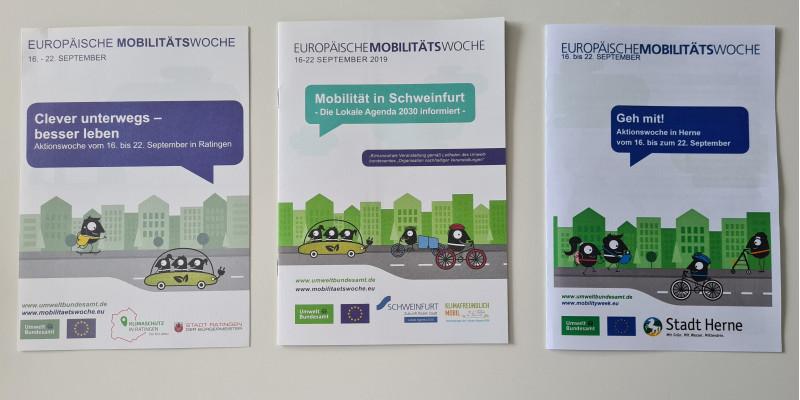 Hefte zur Aktionswoche im Rahmen der EMW in Ratingen, Schweinfurt und Herne