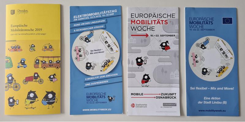 EMW-Faltblätter und Hefte aus Dresden, Lindau und Osnabrück