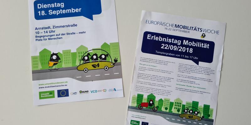 Verwendung der EMW-Designvorlagen zum Bewerben des Erlebnistages in Arnstadt und Aachen