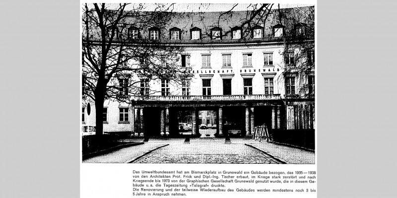 UBA -ebäude am Bismarckplatz