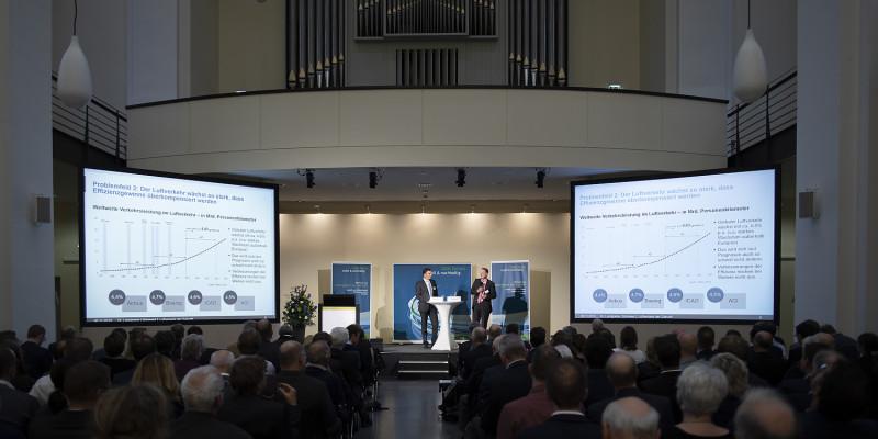 Strategie des UBA von Dr. Landgrebe und Herr Schmied  für umweltschonenden Luftverkehr 2050