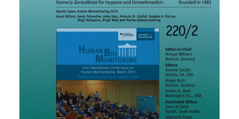 """Titelseite des Sonderheftes """"Human Biomonitoring 2016"""""""